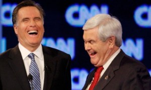 romney laughing gingrich laughing