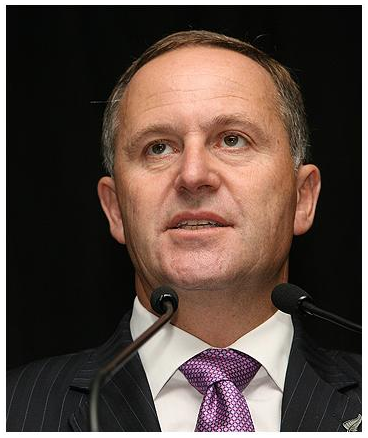 John Key Prime Minister of New Zealand Lizard Person