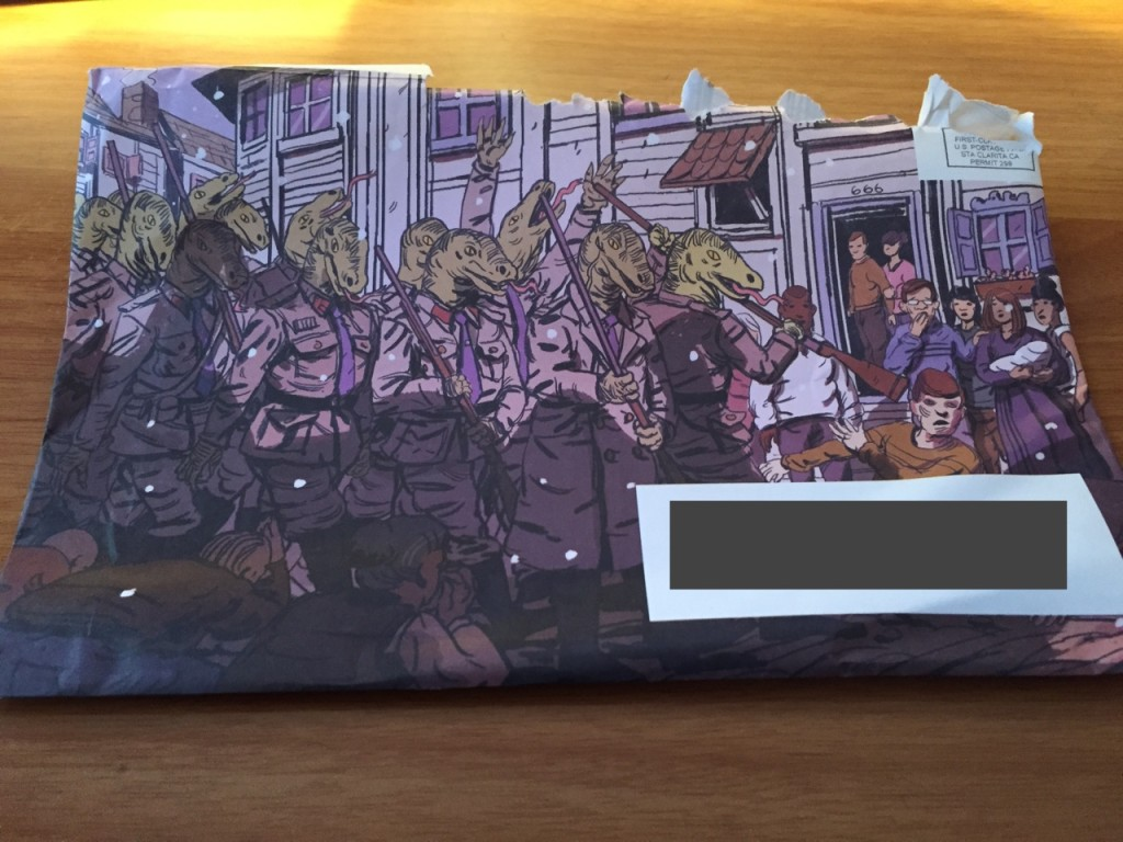 cards against humanity lizard people envelope